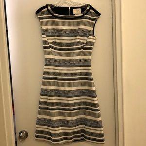 Kate Spade patterned stripe cutout back dress - 4